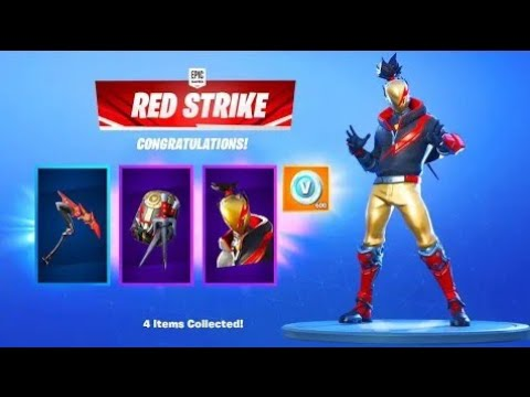 How Everyone can Unlock the Red Strike Pack in Fortnite Trick