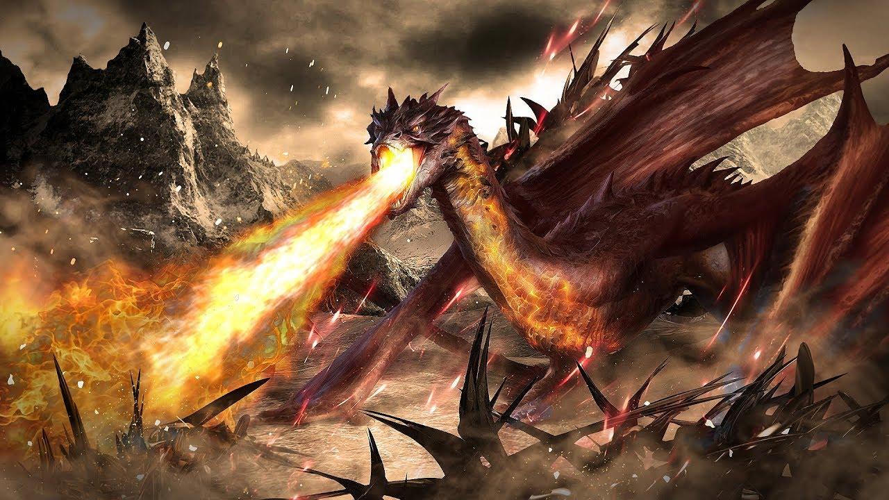картинки дракона из властелина колец красный, как