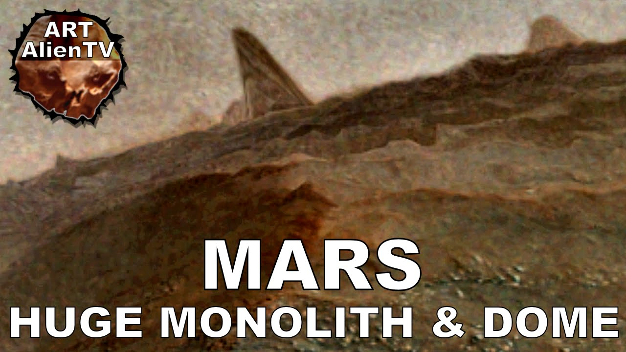 #HUGE TOWER / MONOLITH & DOME on MARS - Lake & HiRISE ...