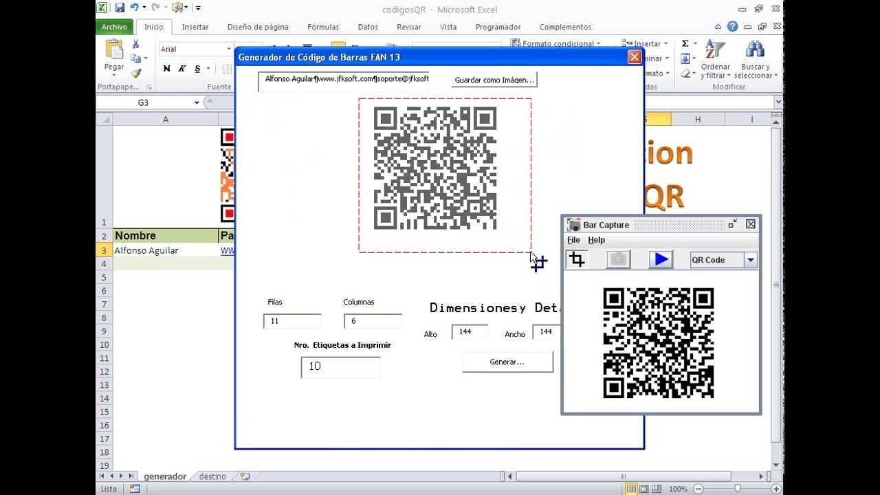 Plantilla Premium: Creando codigos QR en Excel - Tarjetas de ...