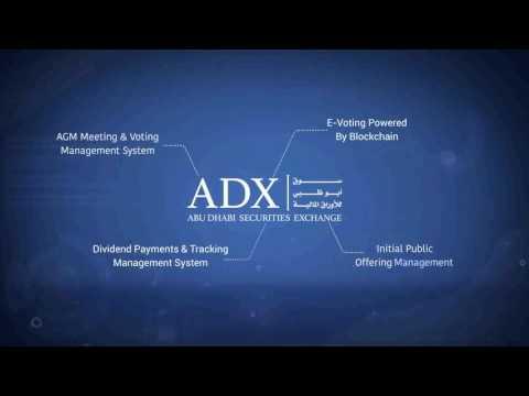 Abu Dhabi Securities Exchange Electronic Platform .