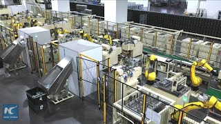 A glimpse of smart factory of China's home appliance maker