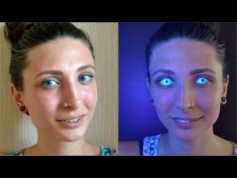 Цветные линзы светящиеся в темноте - первый опыт с линзами Adria Neon