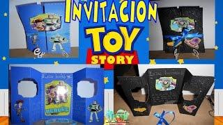 Invitacion Toy Story Buzz Lightyear Woody By Lilu Popup