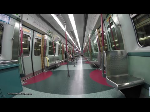 MTR mid-night ride 3:00am 三更半夜 之 我坐上地下鐵路