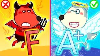 Wolf Family⭐️ Wolfoo, Study Hard! - Education Video for Kids | Kids Cartoon