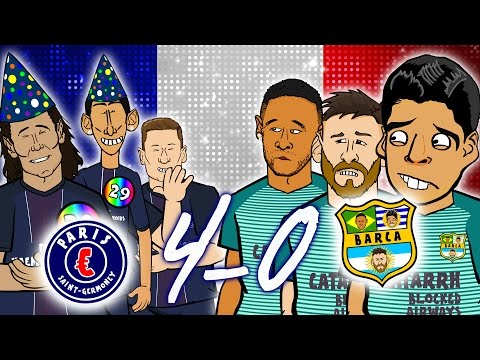 Thumbnail: 😲4-0! PSG vs BARCELONA😲🎤 The Song🎤MSN go down together in Paris (Champions League 2017)