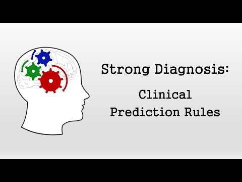 Clinical Prediction Rules (Strong Diagnosis)
