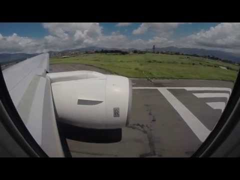 Thai Airways B777-200ER TG320 Takeoff from Kathmandu Tribhuvan Rwy 20