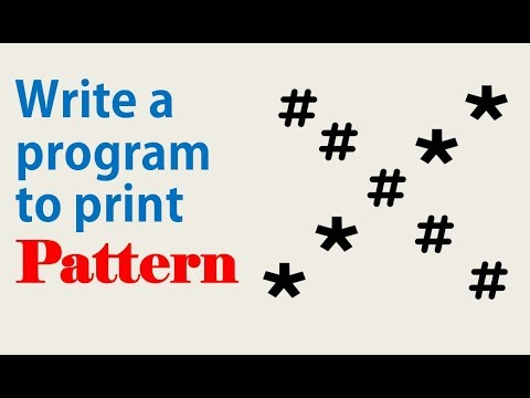 Pattern printing  programs (X pattern of # and *) Part-3