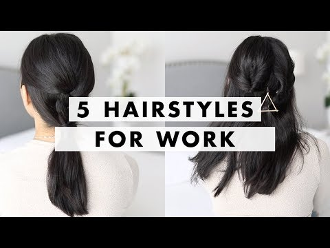 5 Hairstyles for Work in 90 Seconds | Luxy Hair