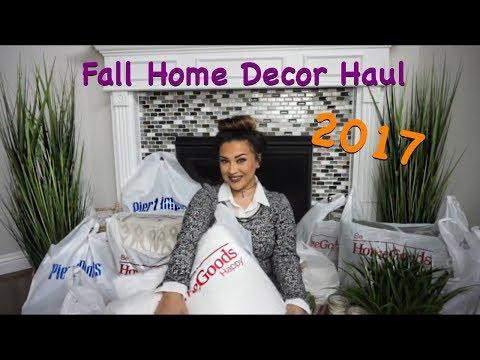FALL HOME DECOR HAUL 2017 | HomeGoods, Pier 1, Hobby Lobby, Marshalls, and Ross