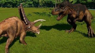 Pentaceratops vs T-Rex, Indominus Rex, Indoraptor, Spinoraptor, Spinosaurus, Giganotosaurus & Carcha