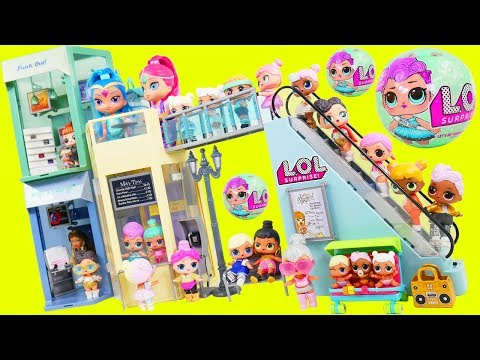 LOL Surprise Dolls + Lil Sisters go Mall Shopping