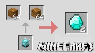 How to Change DIRT to DIAMONDS in Minecraft!