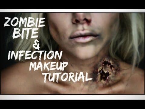 Zombie Bite Halloween Makeup Tutorial | BeeisforBeeauty