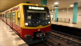 S-Bahn Berlin - Züge im S-Bahnhof Anhalter Bahnhof [HD]