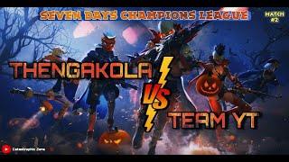 Seven days champions league   second Match   TGK vs TEAM YT   Road to 3k❤️   freefire live