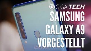 Samsung Galaxy A9 (2018) Hands-On (deutsch): 4 Kameras hinten. Vier! Ja, VIER!!4! 📷📷📷📷 – GIGA.DE