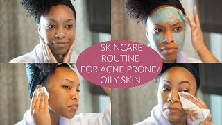 updated skincare routine for acne prone oily skin   2016