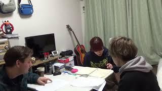 英語の勉強しよるところです。