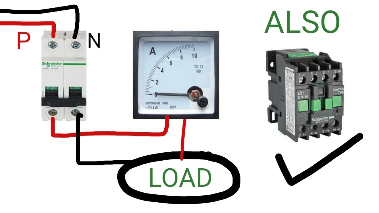 single phase ammeter wiring connection practically [ 1280 x 720 Pixel ]