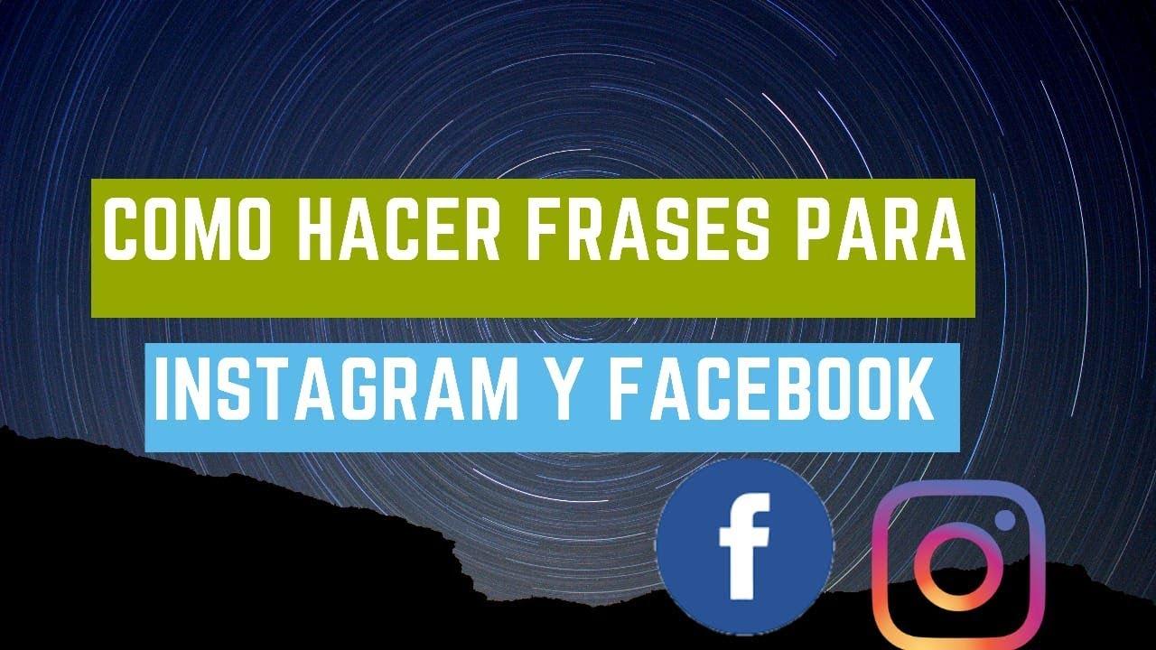 Como Hacer Frases Para Facebook Y Instagram O Portadas En 2 Minutos