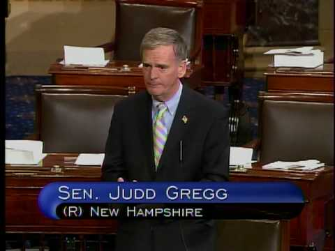 Senator Gregg's floor speech on underwriting standards