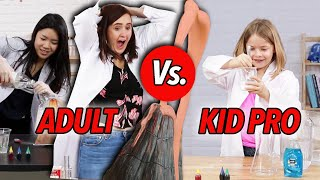 Kid Scientist Vs. Adults: Volcano Science Experiment Without Instructions