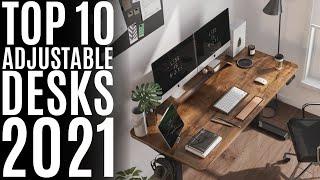 Top 10: Best Adjustable Standing Desks for 2021 / Electric Adjustable Height Desk for Home & Office
