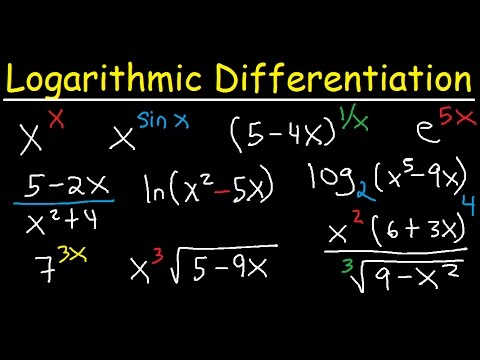Logarithmic Differentiation - Rules, Examples, Exponential Functions - Calculus & Derivatives