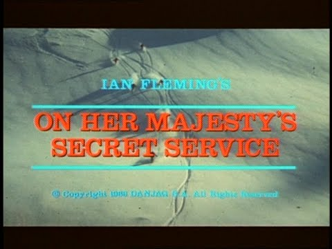Vintage On Her Majesty`s Secret Service Teaser 1969