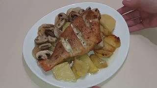 Рыба в духовке/Запечений морський окунь/Морской окунь в духовке/Как приготовить окуня в духовке