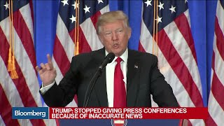 Trump Derides 'Fake News' Report at News Conference