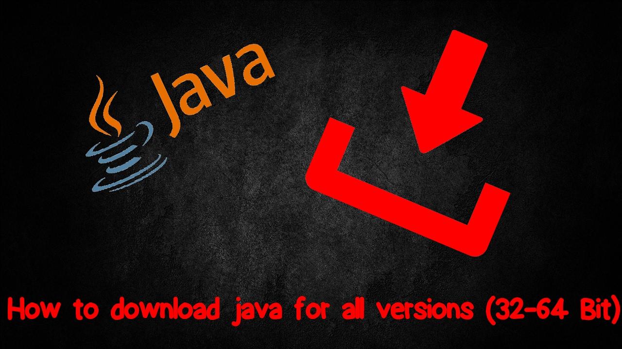 Come scaricare java per tutte le versioni (32-64 Bit)