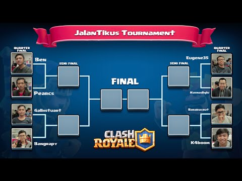 Clash Royale Tournament: Tim JalanTikus.com [Part 1 - Quarter Final]