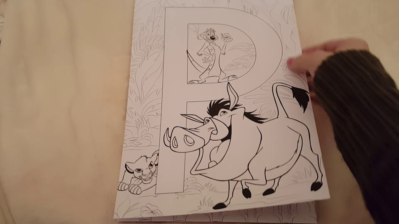 Art Therapie Disney Abecedaire 69 Coloriages Anti Stress Youtube