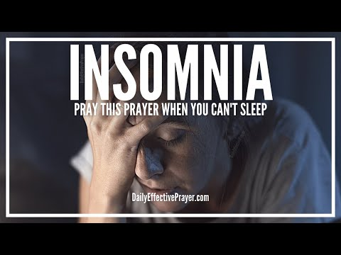Prayer For Insomnia