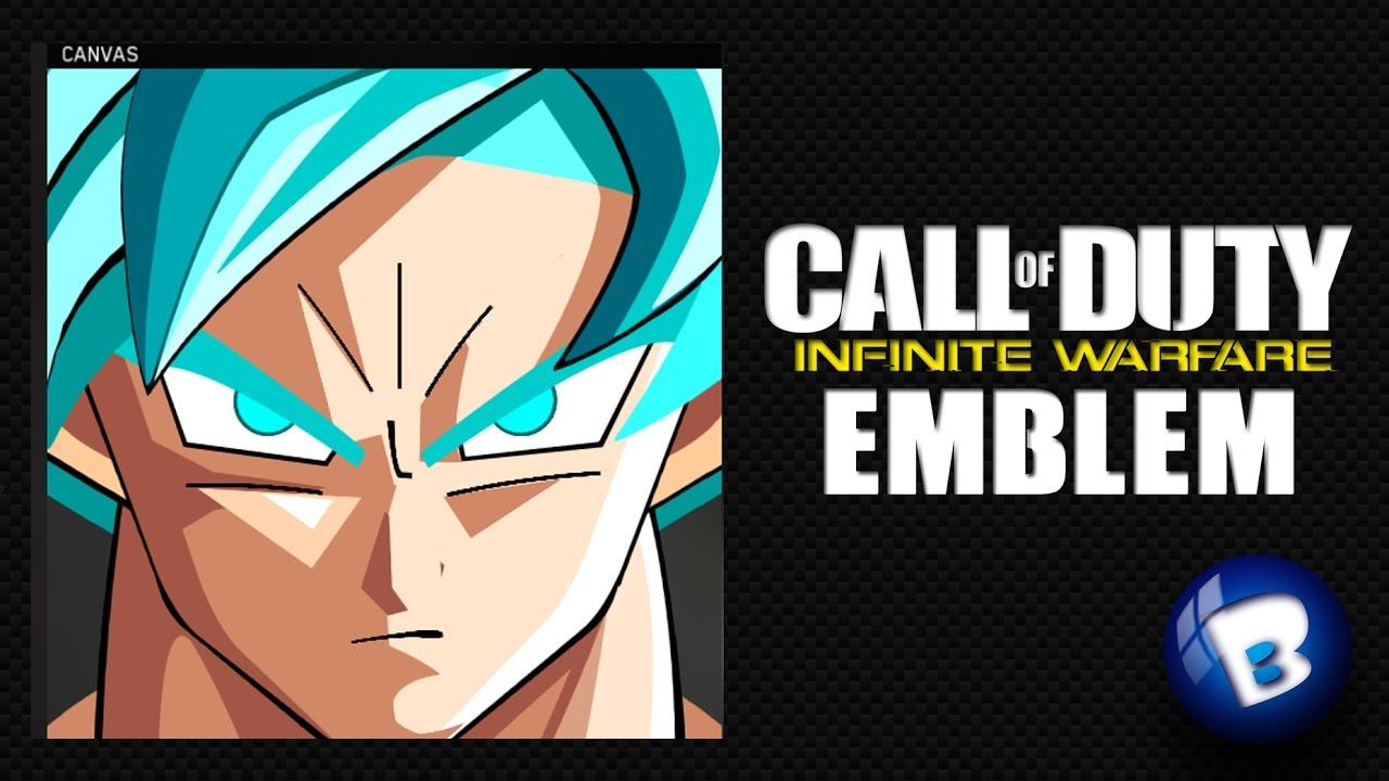 Top page gt gt infinite - Infinite Warfare Emblem Tutorial 005 Goku Super Saiyan Blue By Babifoot