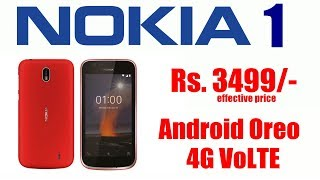 Nokia 1 with Android Oreo (Go edition) Rs 3499 launched in India