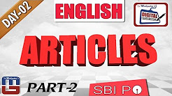 IMPORTANT QUESTIONS BASED ON ARTICLES   ENGLISH GRAMMAR    DAY - 2   DIGITAL CLASS   SBI PO 2017  