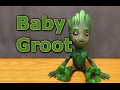 Baby Groot 3D Printed Woodfill PLA Painted with Acrylics