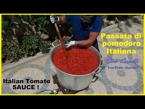 Come realizzare la CONSERVA di POMODORO-Best way to make TOMATO PRESERVERS