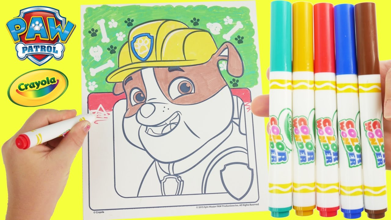 Crayola Magic markers with rubble from paw patrol - YouTube