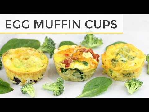 3 Healthy Egg Muffin Cup Meal Prep Recipes | Easy Healthy Breakfast Ideas