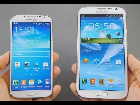 Samsung Galaxy S4 vs NOTE 2 Karşılaştırma - YouTube