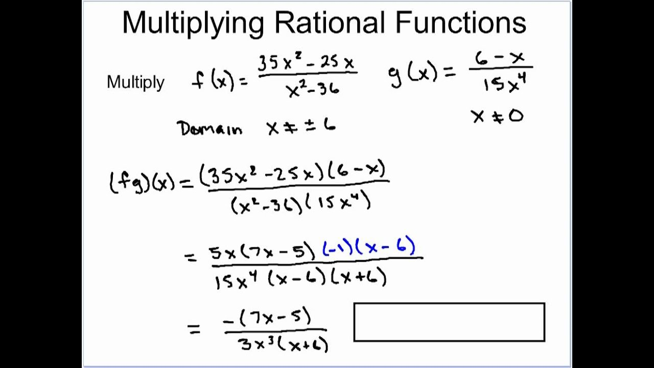 Multiplication And Division Of Rational Functions Youtube