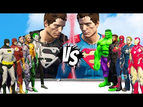RED SUPERMAN VS BLACK SUPERMAN | DC VS MARVEL  | EPIC BATTLE