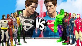 RED SUPERMAN VS BLACK SUPERMAN   DC VS MARVEL    EPIC BATTLE