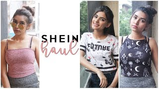 SHEIN TEE FOR ONLY ₹67? | SHEIN TRY-ON HAUL | Saina and Tanisha